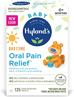 Hyland's Baby Oral Pain Relief Tablets with Chamomilla, Soothing Natural Relief of..