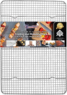 KITCHENATICS Commercial Grade 100% Stainless Steel Roasting and Cooling Rack Thick-Wire..