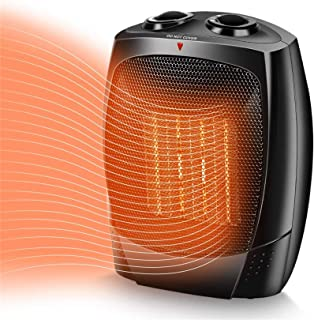 Space Heater, 1500W Portable Heater, Up to 200sq, 3 Modes Adjustable, Tip-Over and..