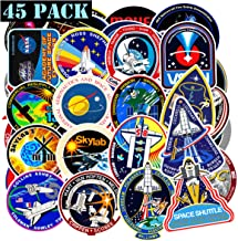 EHOPE NASA Stickers for Water Bottle- 45Pcs Space Explorer Universe Galaxy Astronaut..