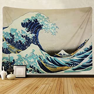 Martine Mall Tapestry Wall Tapestry Wall Hanging Tapestries The Great Wave Off Kanagawa..