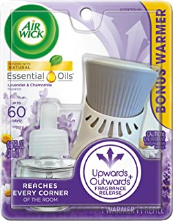 Air Wick plug in Scented Oil, Starter Kit, Lavender and Chamomile 1ct, Essential Oils,..