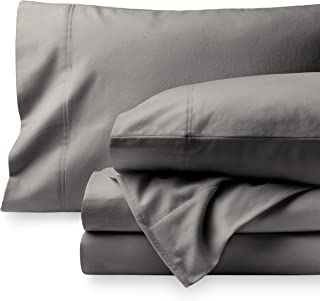 Bare Home Flannel Sheet Set 100% Cotton, Velvety Soft Heavyweight – Double Brushed..