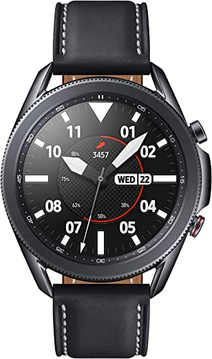 Samsung Galaxy Watch 3 (45mm, GPS, Bluetooth, Unlocked LTE) Smart Watch with Advanced Health monitoring, Fitness Tracking , and Long lasting Battery - Mystic Black (US Version)