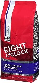 Eight O'Clock Whole Bean Coffee, Dark Italian Espresso, 32 Ounce