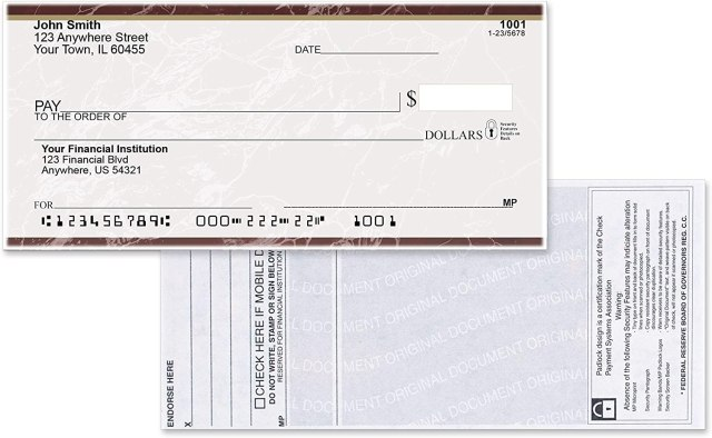 Buy Value Price Burgundy Marble Top Tear Personal Checks (16 Boxes