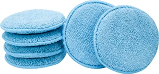 862401 Microfiber Applicator and Cleaning Pads – 5 Inch Diameter, Blue, 6 Pack