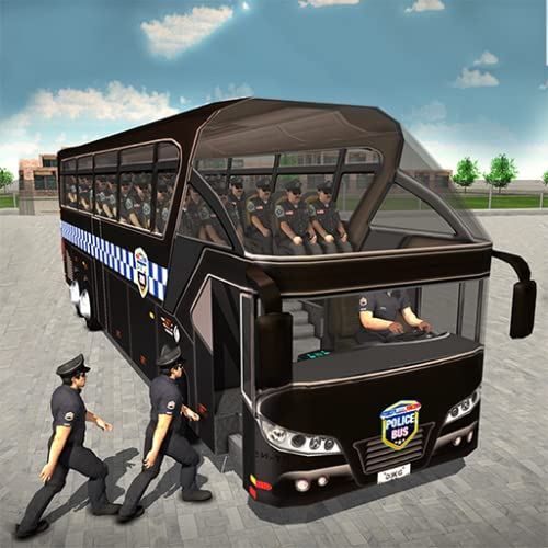 US-Polizei-Bus, der Simulator Prison Transporter-Spiel 2018 3D fährt