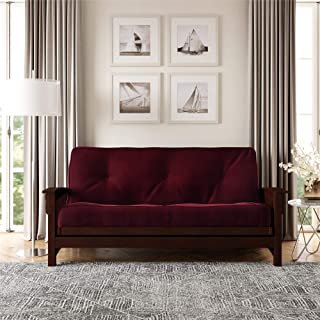 DHP 8-Inch Independently Encased Coil Futon Mattress, Full Size, Merlot, Frame Not Included