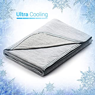 Elegear 51''x67'' Cooling Throw Blanket for Couch, Japanese Q-Max 0.4..