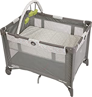 Graco Pack and Play On the Go Playard | Includes Full-Size Infant Bassinet, Push Button..