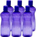 Princeware Aster Pet Fridge Bottle, 500ml, Set of 6, Violet colour