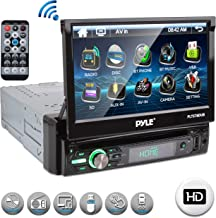 """Pyle Single DIN Head Unit Receiver – In-Dash Car Stereo with 7"""" Multi-Color.."""