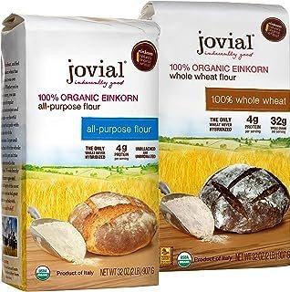 Jovial Einkorn Baking Flour Variety Pack | 100% Organic Einkorn All Purpose Flour & 100% Organic Whole Wheat Einkorn Flour...