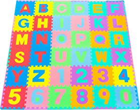 ProSource Kids Foam Puzzle Floor Play Mat with Shapes & Colors or Numbers &..