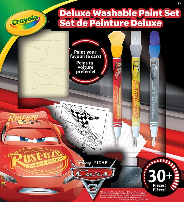 CRAYOLA - 17-17-E-17 - Kit De Peinture Deluxe Cars 17