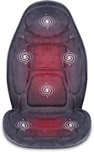 SNAILAX Vibration Massage Seat Cushion with Heat 6 Vibrating Motors and 3 Therapy Heating..