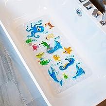 BEEHOMEE Bath Mats for Tub Kids – Large Cartoon Non-Slip Bathroom Bathtub Kid Mat..