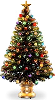 National Tree Company Pre-lit Artificial Christmas Tree | Flocked with Mixed Decorations..