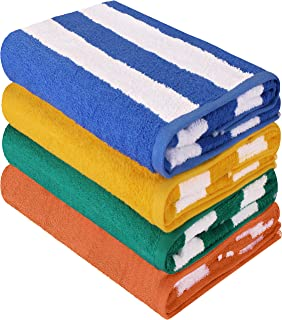 Utopia Towels Cabana Stripe Beach Towel (30 x 60 Inches) – 100% Ring Spun Cotton..