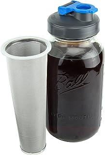 Cold Brew Mason Jar Coffee Maker by County Line Kitchen – 2 Quart, 64 oz –..