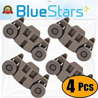 Ultra Durable W10195416 Dishwasher Wheel Lower Rack Replacement Part by Blue Stars..