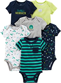 Simple Joys by Carter's Baby - Body a maniche corte, confezione da 6