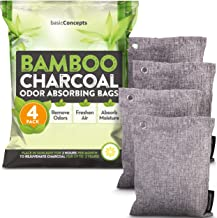 Bamboo Charcoal Air Purifying Bags (4 Pack), Charcoal Bags Odor Absorber for Home and Car..