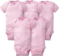 Gerber baby-boys 5-pack Solid Onesies Bodysuits