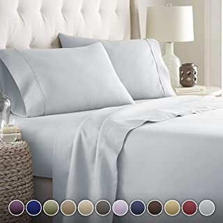 HC COLLECTION-Hotel Luxury Bed Sheets Set 1800 Series Platinum Collection, 4pc Deep..