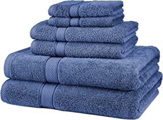 Pinzon 6 Piece Blended Egyptian Cotton Bath Towel Set – Wedgewood
