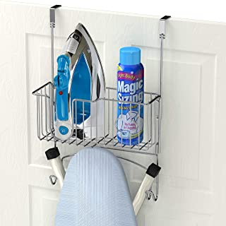 Simple Houseware Over-The-Door/Wall-Mount Ironing Board Holder, Chrome