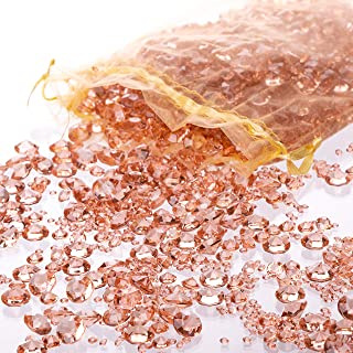 Luxury Rose Gold Diamond Table Confetti Party & Wedding Decorations: Includes Over..