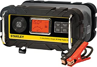 STANLEY BC15BS Fully Automatic 15 Amp 12V Bench Battery Charger/Maintainer with 40A..