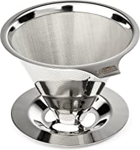 Cafellissimo Paperless Pour Over Coffee Maker, 188 (304) Stainless Steel Reusable Drip..