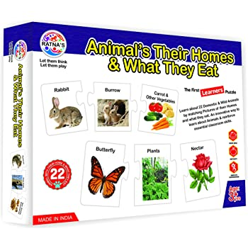 Buy Ratna S Animals Their Homes And What They Eat For Kids Learn About Different Animals Online At Low Prices In India Amazon In