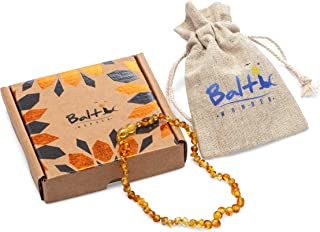 Baltic Wonder Baltic Amber Necklace (Baroque Honey) Unisex – 100% Certified Authentic Baltic.