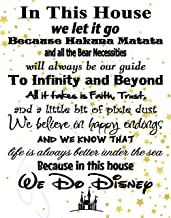Simply Remarkable in This House We Do Disney – Poster Print Photo Quality –..