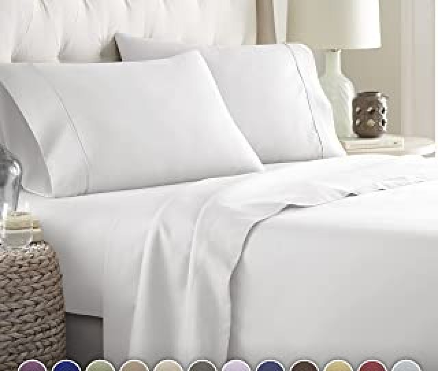 Hotel Luxury Bed Sheets Set 1800 Series Platinum Collection Deep Pocketwrinkle