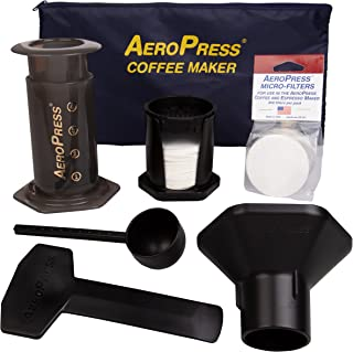 AeroPress Coffee and Espresso Maker with Tote Bag – Quickly Makes Delicious Coffee..