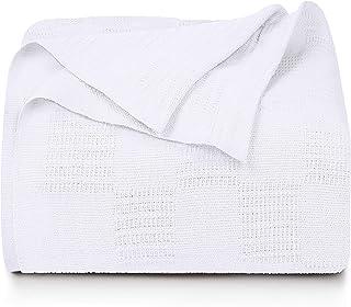 Utopia Bedding Premium Cotton Blanket King White – Soft Breathable Thermal Blanket..