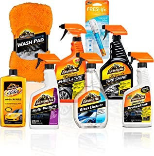 Armor All Premier Car Care Kit (8 Items) – 3pc Ultra Wax & Wash Kit, 3pc..