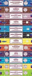 Set of 12 Nag Champa Namaste Positive Vibes Tantra Buddha Blessing Aura Cleansing Chakra..