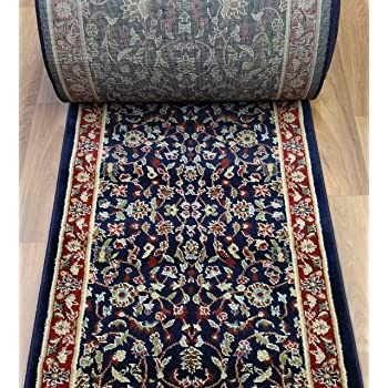 Amazon Com Rug Depot 163129 Traditional Sold By The Foot Stair   Stair Rug Runners Cheap   White   Hardwood   Brown   Interior   Woven