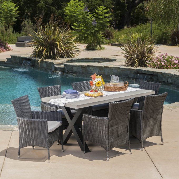 Christopher Knight Patio Furniture.Christopher Knight Home Seabrook Patio Furniture 7 Piece Outdoor