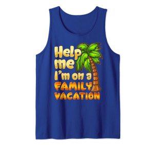 Funny family vacation tank top