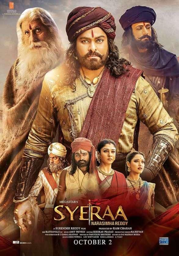 Sye Raa Narasimha Reddy (2019) Hindi Pre-DvDRip - 480P | 720P - x264 - 400MB | 1.2GB - Download & Watch Online  Movie Poster - mlsbd