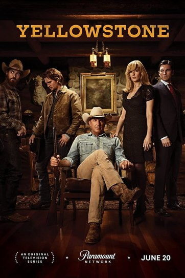 Kevin Costner, Wes Bentley, Kelly Reilly, Dave Annable, and Luke Grimes in Yellowstone (2018)Top tv series of june 2019