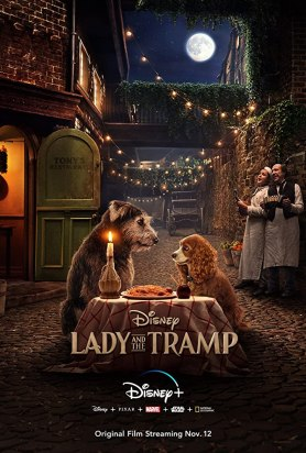 Justin Theroux and Tessa Thompson in Lady and the Tramp (2019)