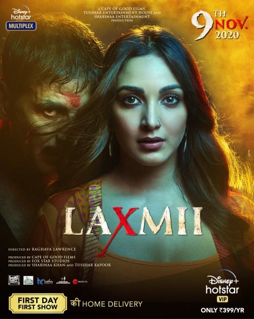 Laxmii (2020) Hindi Movie 1080p HDRip ESubs 3.4GB Download